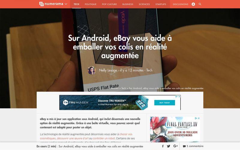 Sur Android, eBay vous aide à emballer vos colis en réalité augmentée - Tech - Numerama