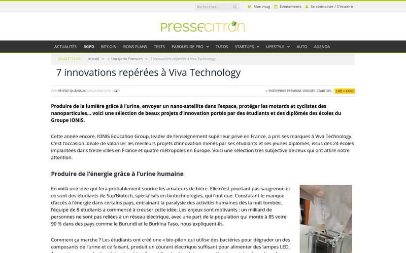 Presse citron : 7 innovations repérées à Viva Technology